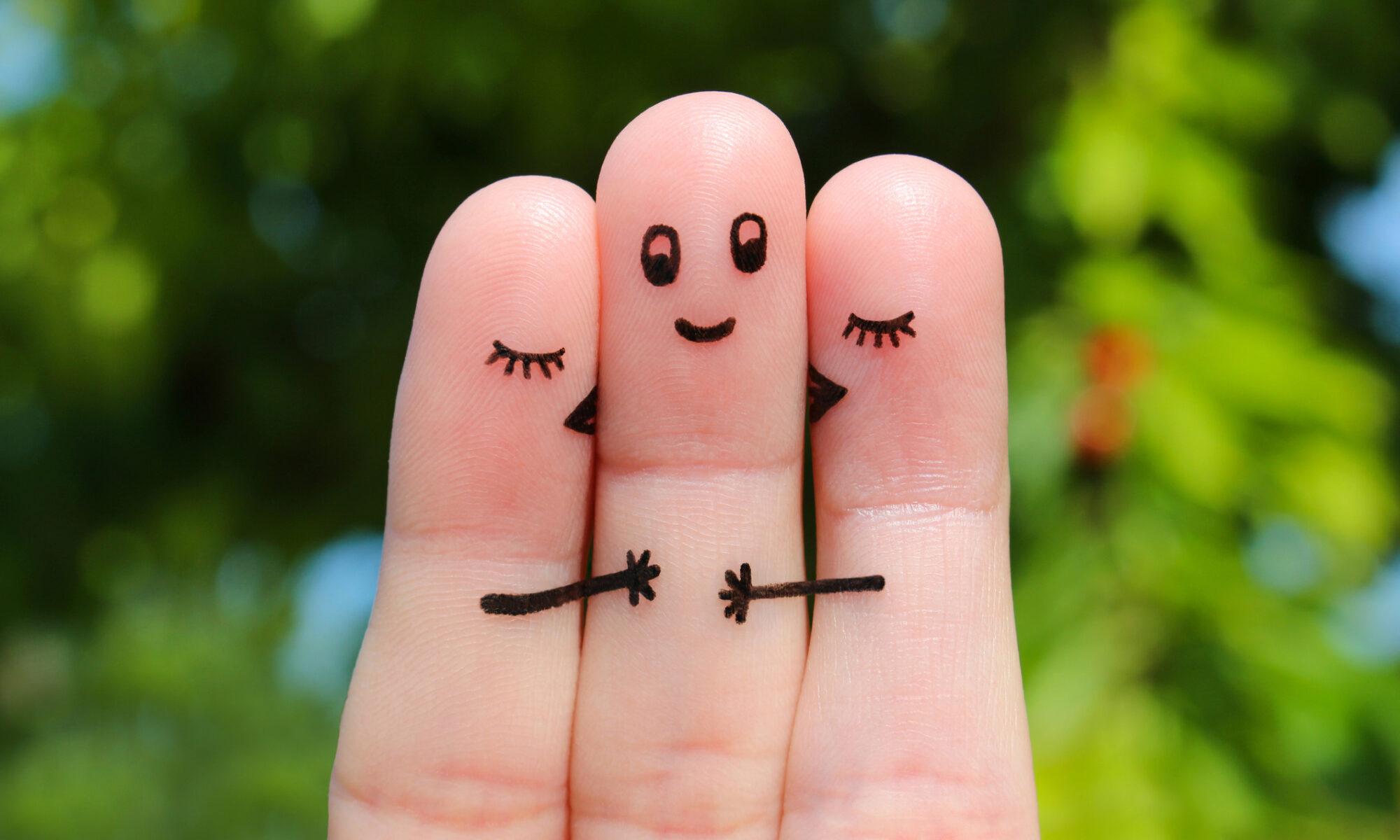 Fingerspiel, 2 Frauen und ein Mann